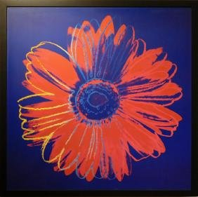 Andy Warhol: Blue And Red Daisy Digital Print
