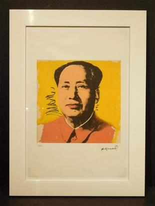 Andy Warhol: Mao (yellow), Lithograph