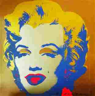 Andy Warhol: Marilyn, Gold - SIGNED
