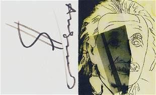 Andy Warhol: Einstein Card - SIGNED