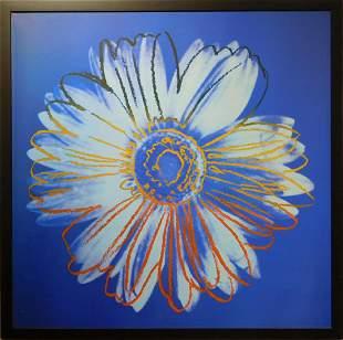 Andy Warhol: Blue Daisy Digital Print