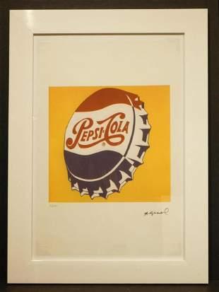 Andy Warhol: Pepsi Cola Bottle Cap Lithograph