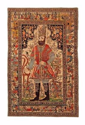 Antique Persian Tehran King Nader Shah Rug