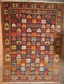 Antique Bakhtiari Wool Area Rug