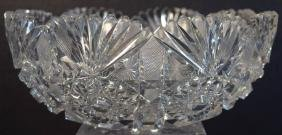 Antique American Brilliant Cut Crystal Bowl