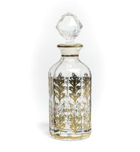 Hand Painted Continental Crystal Perfume Bottle C.1920
