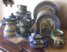 Set of 27 Pcs Spanish Soft Paste Hand Painted Faience