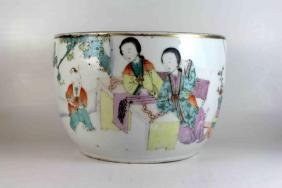 Antique Chinese Famille Rose Handpainted Bowl