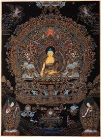 Shakyamuni Buddha Thankga Painting