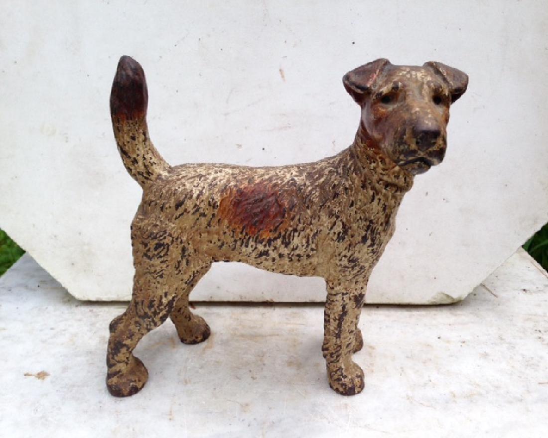 Cast Iron Terrier Dog Door Stop
