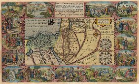 Plancius: Antique Map of Biblical Middle East, 1600
