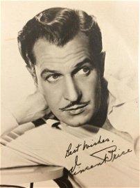 c1950s Vincent Price Vintage Horror Movie Star Photo