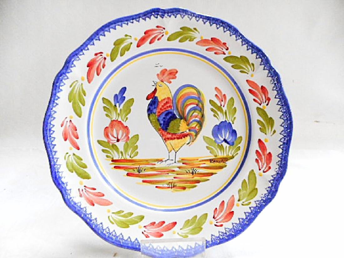 Keraluc Quimper Pottery Rooster Plate