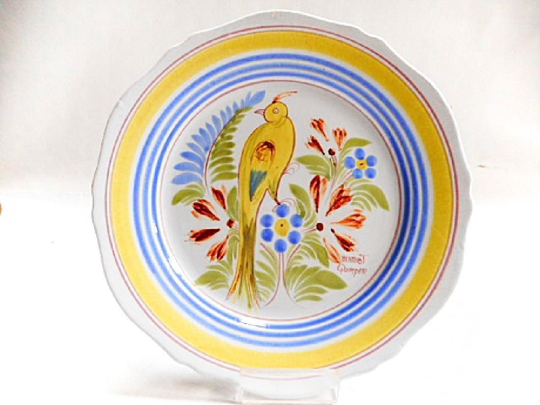 Henriot Quimper Pottery Bird Plate