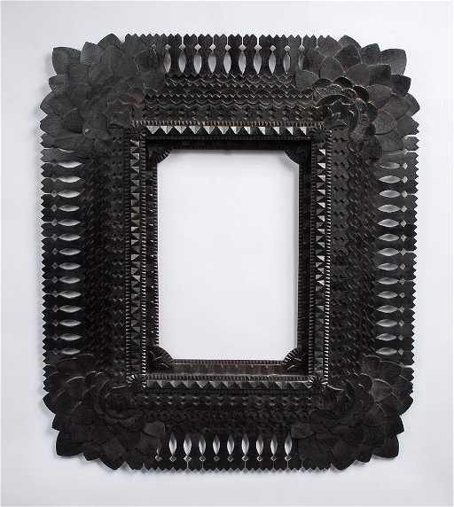 John Zubersky Sunflower Tramp Art Frame