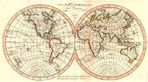 Morse: Antique Map of the World, 1806