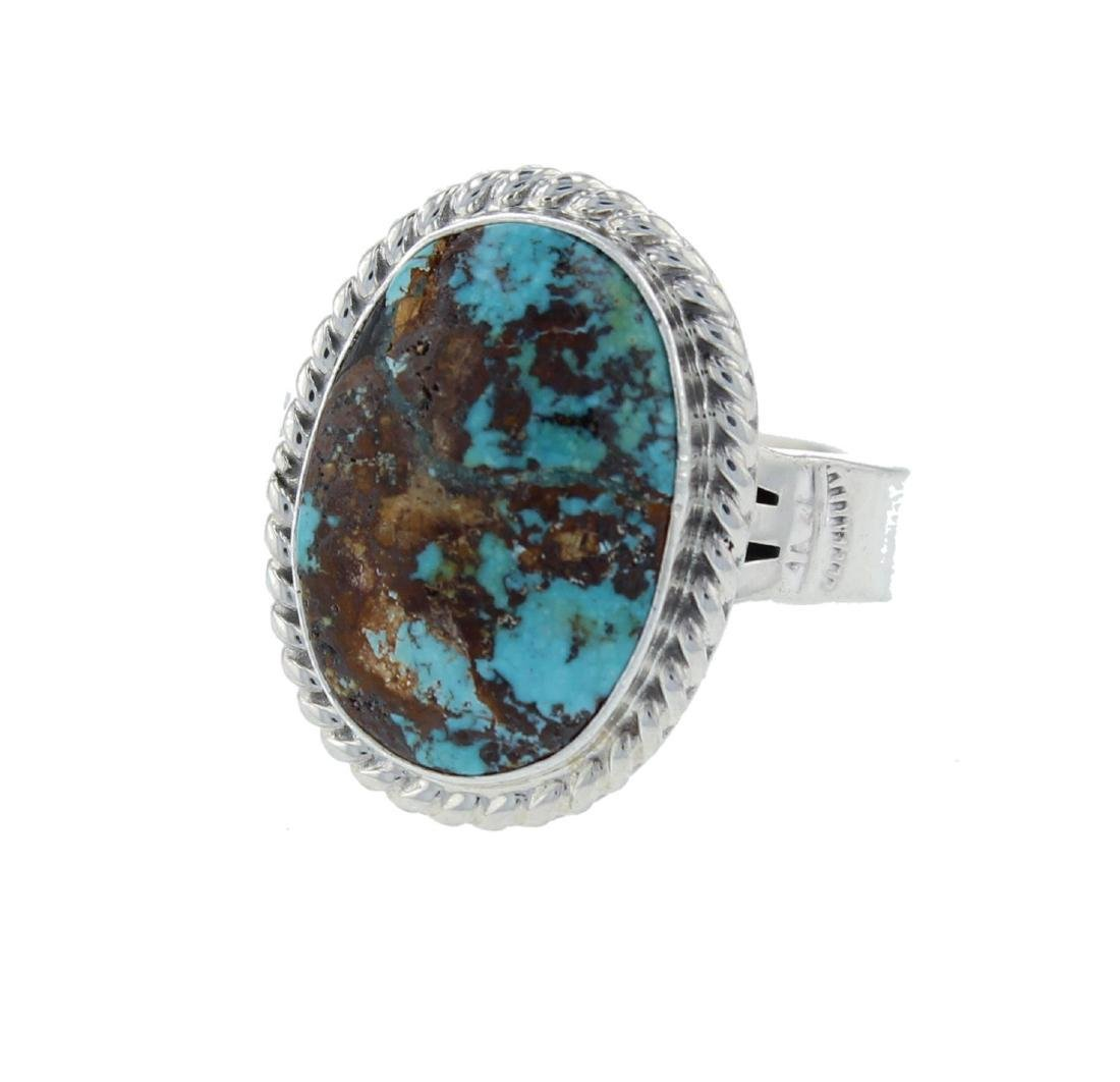 P. Sanchez Navajo Sterling Silver Turquoise Ring