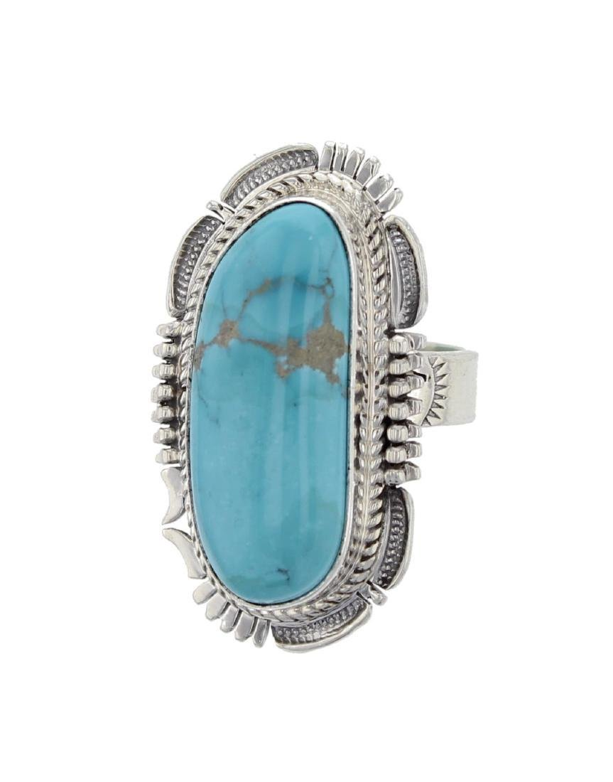 Bennie Ration Navajo Sterling Silver Turquoise Ring