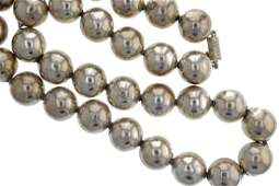 Taxco Mexico Sterling Silver Beads Necklace TC-00