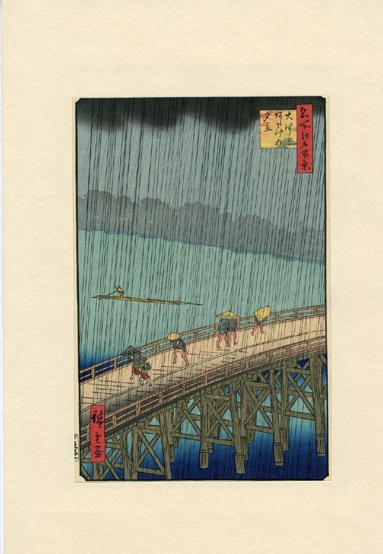 Ando Hiroshige Sudden Shower Japanese Woodblock Print - 3