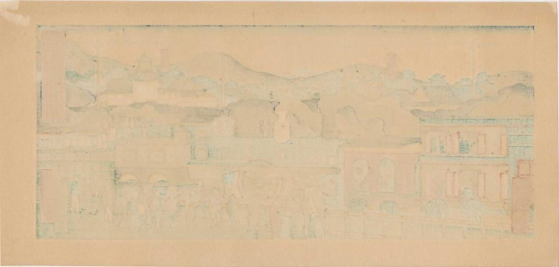 Hasegawa Sadanobu II Station Japanese Woodblock Print - 3