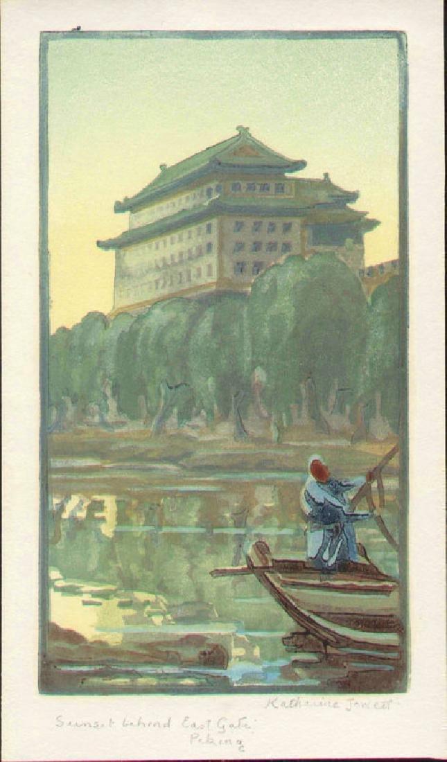 Katharine Jowett Sunset Japanese Woodblock Print