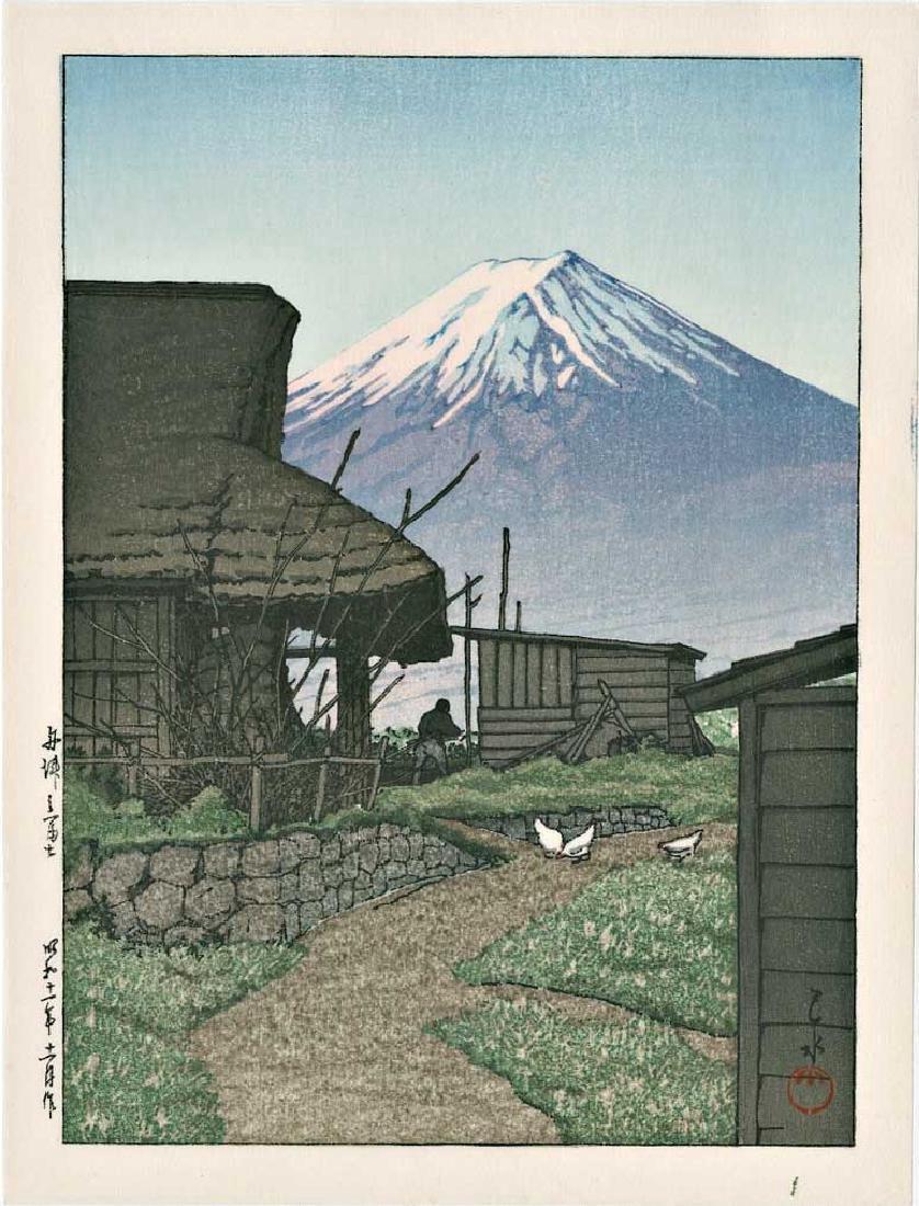 Kawase Hasui Mt Fuji Funatsu Japanese Woodblock Print