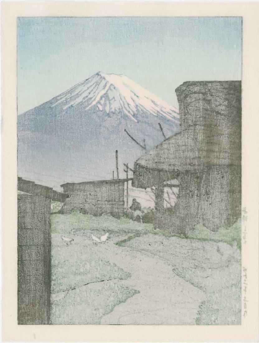 Kawase Hasui Mt Fuji Funatsu Japanese Woodblock Print - 2