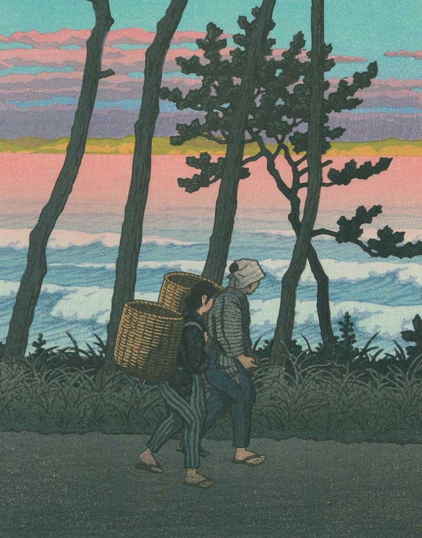 Kawase Hasui Sunset Glow Japanese Woodblock Print - 2