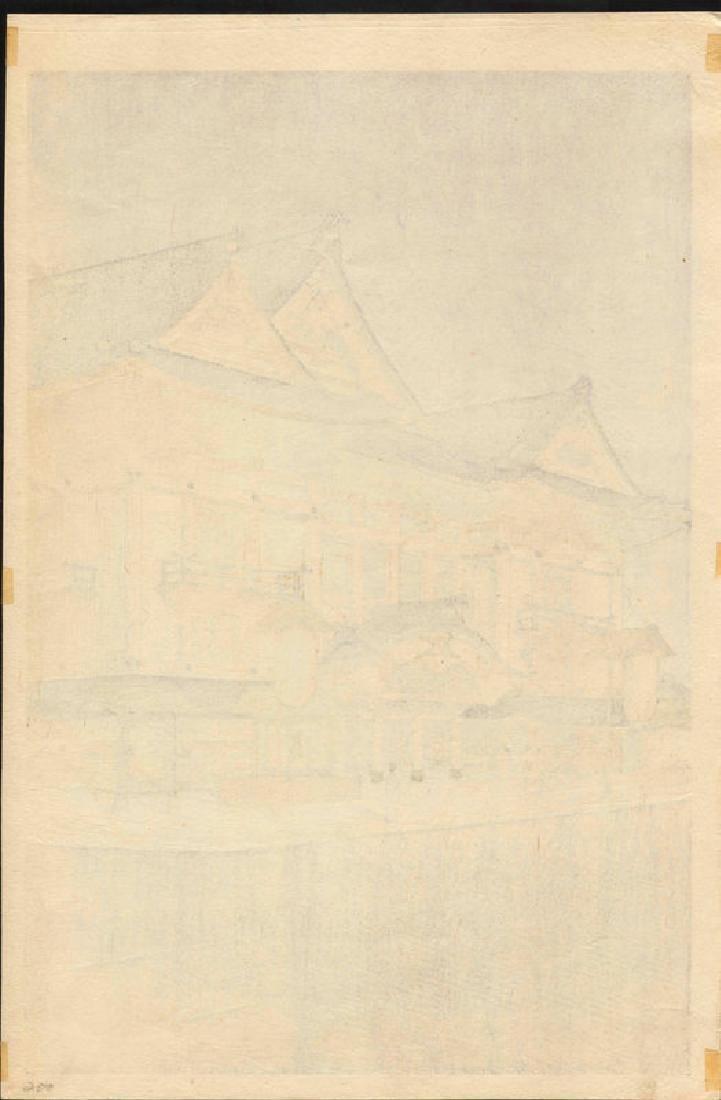 Noel Nouet Kabukiza Japanese Woodblock Print - 3