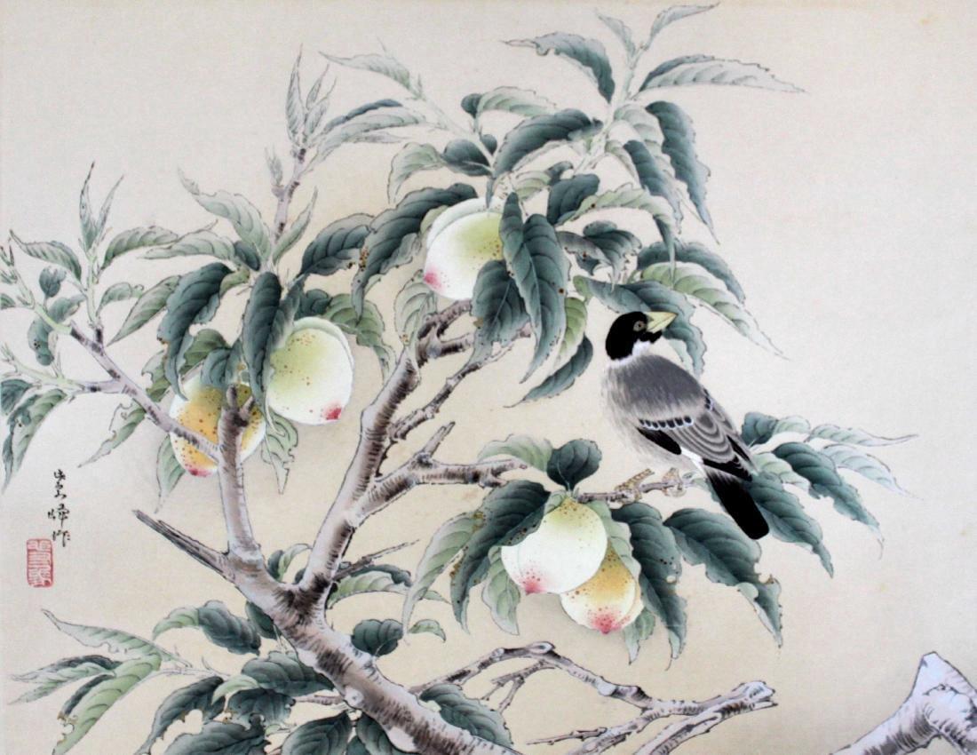 Shiho Sakakibara Peaches Japanese Woodblock Print - 2