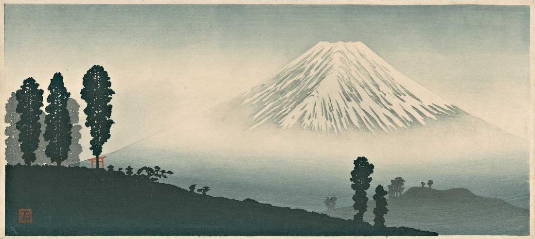 Takahashi Shotei Mt. Fuji Japanese Woodblock Print