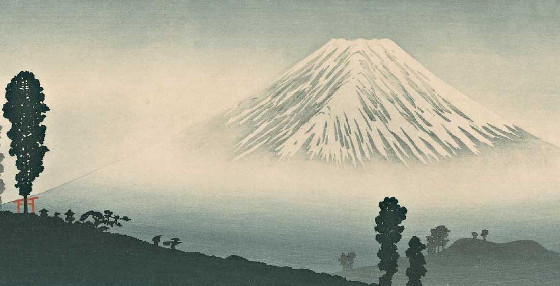 Takahashi Shotei Mt. Fuji Japanese Woodblock Print - 2