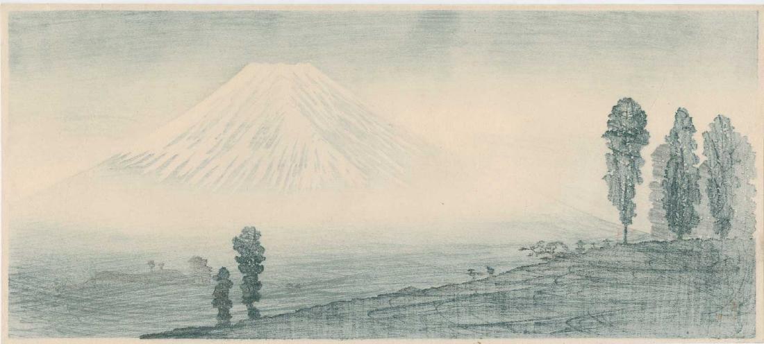 Takahashi Shotei Mt. Fuji Japanese Woodblock Print - 3