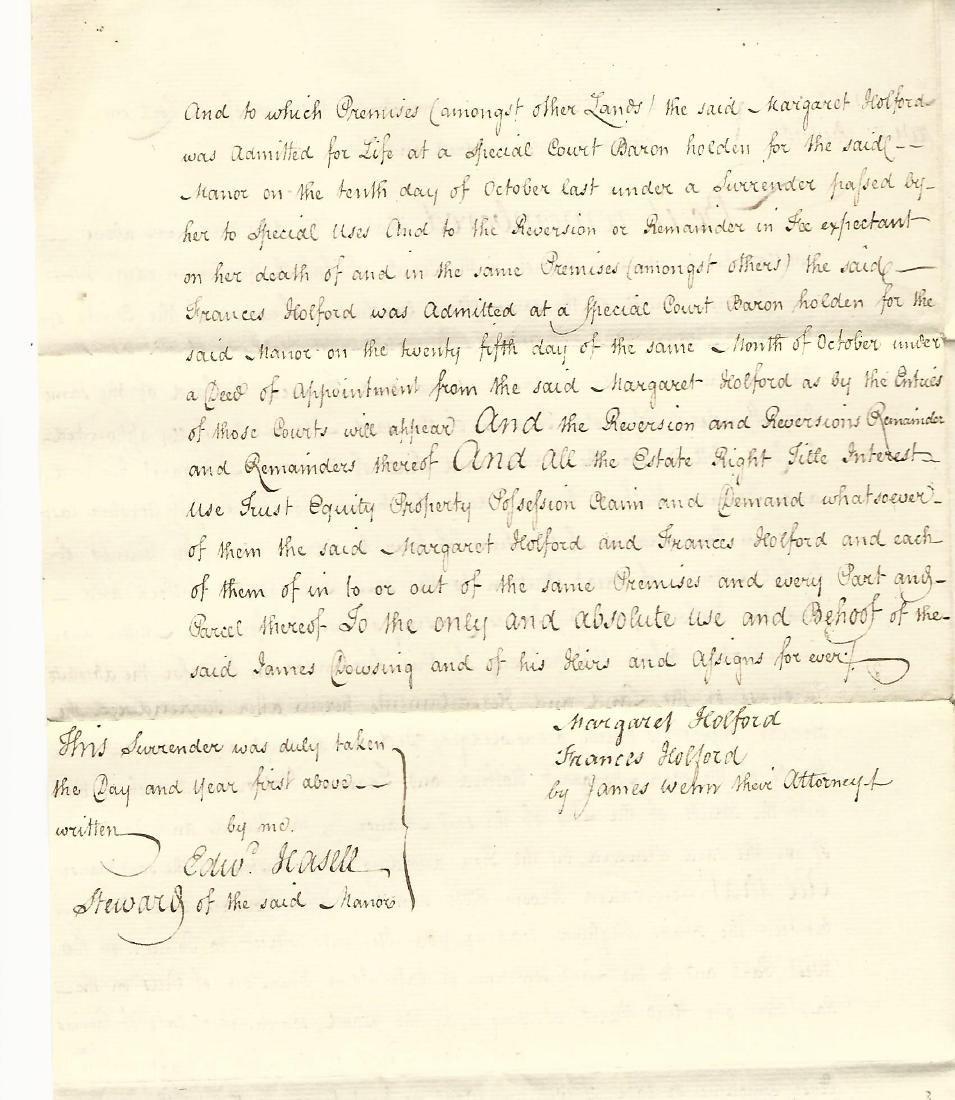 1810 Manuscript English Manor Absolute Surrender - 2