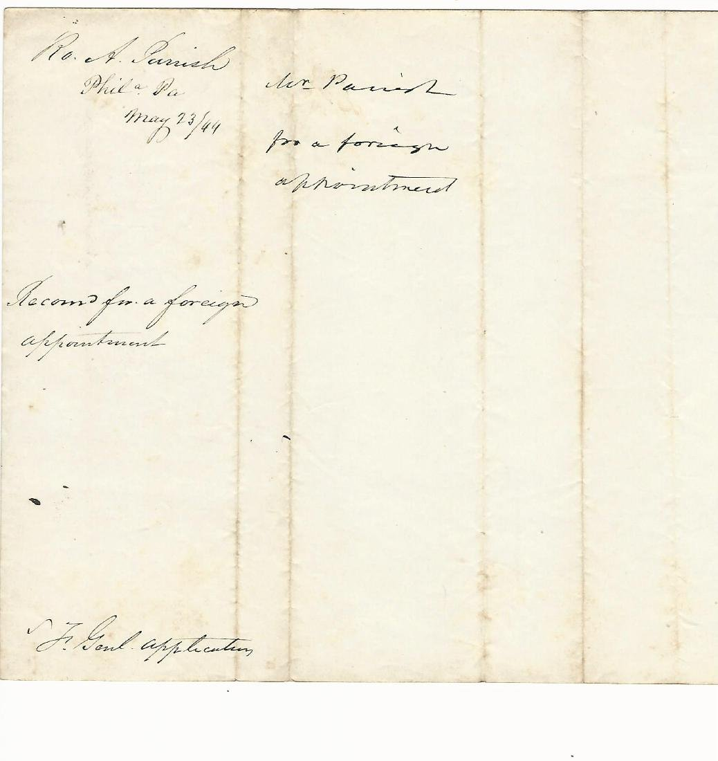 1844 Petition to Pres. John T Docket Signatures Congr. - 2