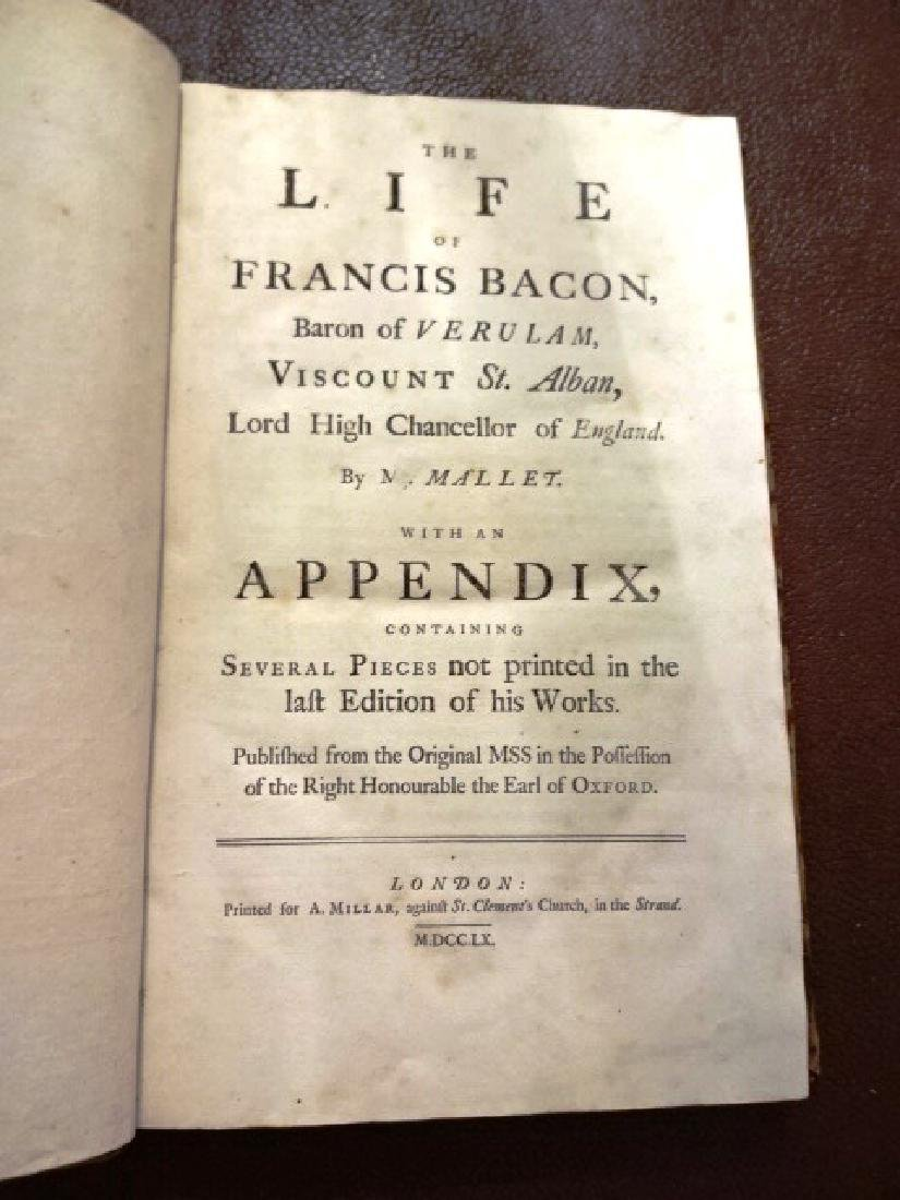 1760 Folio The Life of Sir Francis Bacon