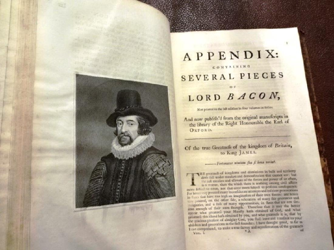 1760 Folio The Life of Sir Francis Bacon - 3