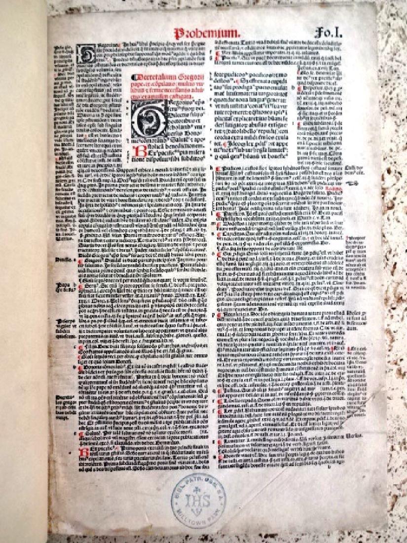 1510 Decretales- Pope Gregory I, prntdBerthold Rembolt - 2