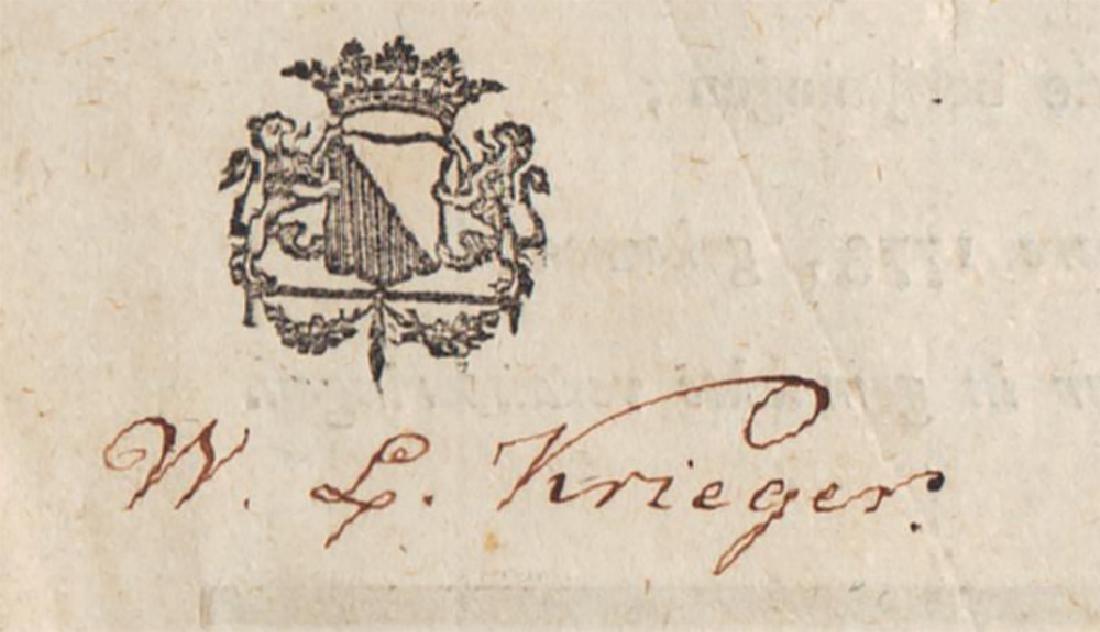 1789 Dutch Book of Psalms Signed Wilhelm Krieger