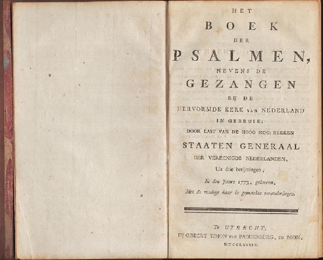 1789 Dutch Book of Psalms Signed Wilhelm Krieger - 3
