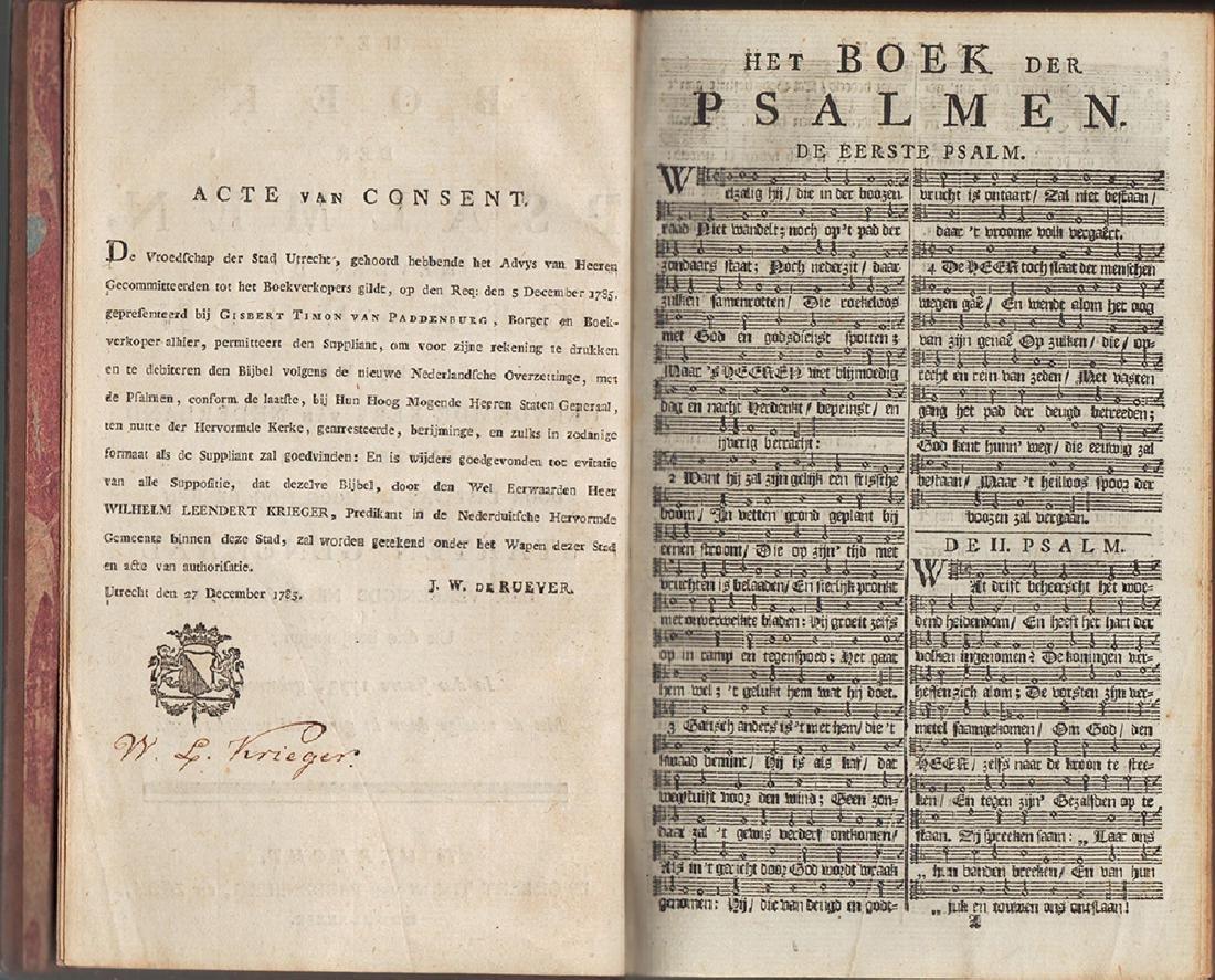 1789 Dutch Book of Psalms Signed Wilhelm Krieger - 4