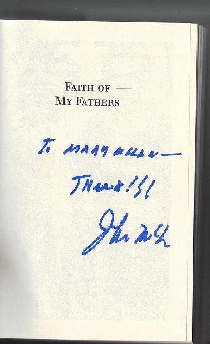 Faith of My Fathers 1st Ed. Sgnd by John Mccain. - 2