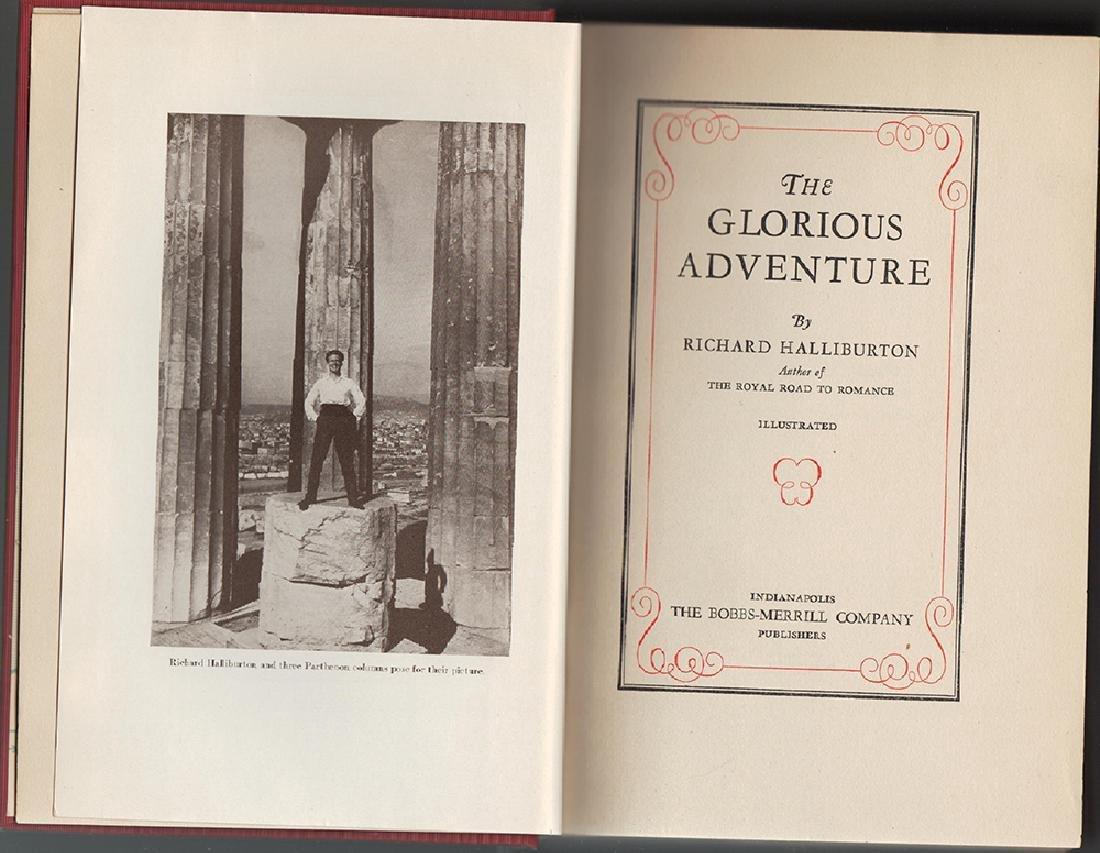 Glorious Adventure, Richard Haliburton, Signed, 1st Ed - 5