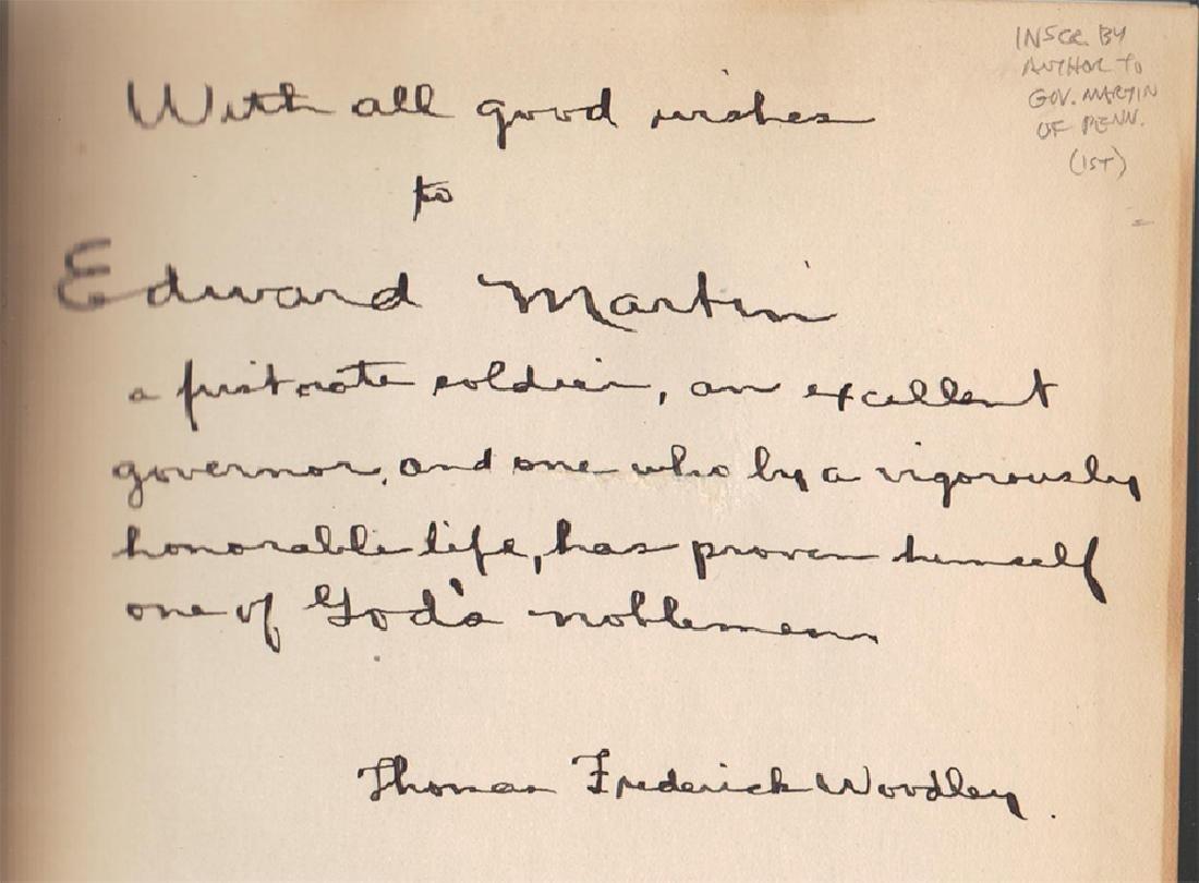 Thaddeus Stevens, Inscribed Gov. Edward Martin of Penn - 2
