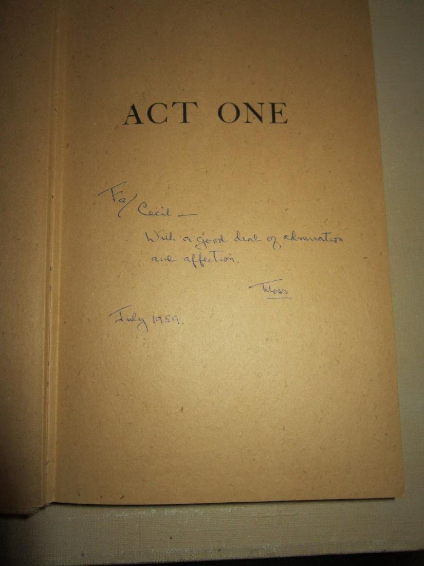 Act One: an Autobiography by Moss Hart Inscribed - 3