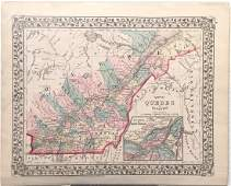 Mitchell: Antique Map of Quebec, 1877