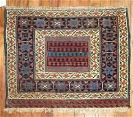 Antique Persian Kurdish Kurd Jaff Bagface Rug