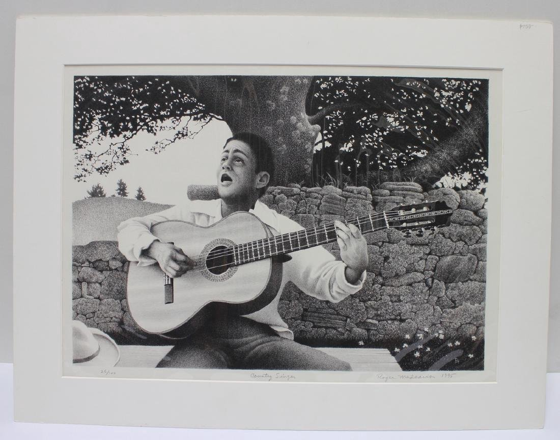 Roger Medearis: Country Singer Lithograph - Signed