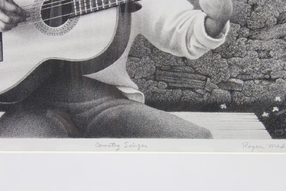 Roger Medearis: Country Singer Lithograph - Signed - 4